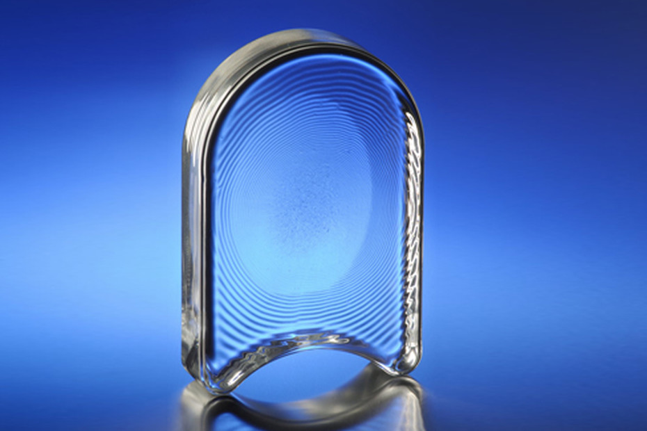 Glass blocks from borosilicate glass