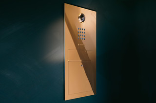 Steel Intercom system flush mounted  by  Siedle