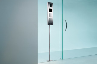 Steel Intercom system glass mounted  by  Siedle