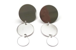PAILLETTES earrings triple  by  Saskia Diez
