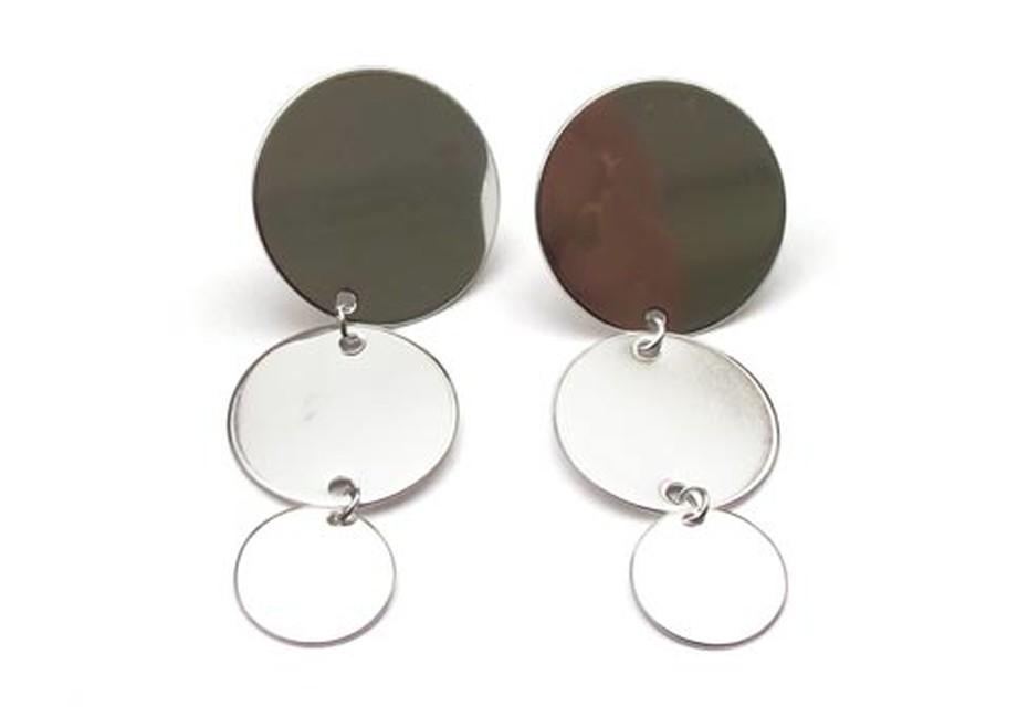 PAILLETTES earrings triple