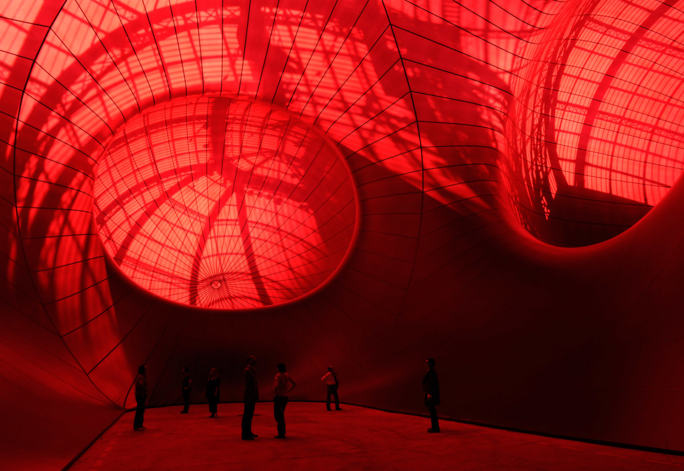 Image result for SERGE FERRARI fabrics anish kapoor grand palais