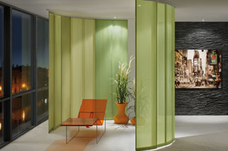 Plain curtain systems  by  Silent Gliss