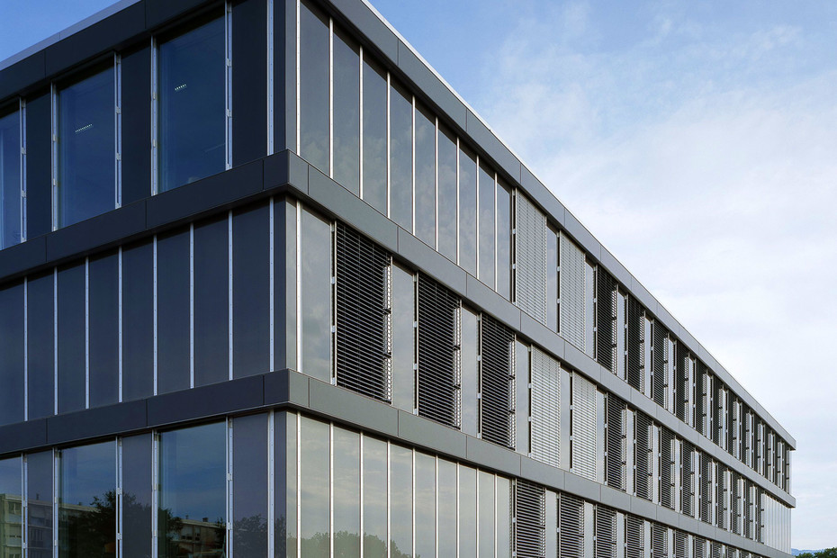 Glass facade, Cayla school, Genf
