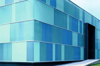 Glass facade, Klöber Co., Owingen  by  Sprinz
