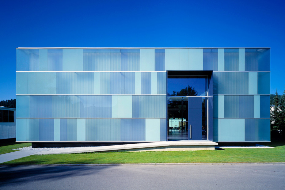 Glass facade, Klöber Co., Owingen