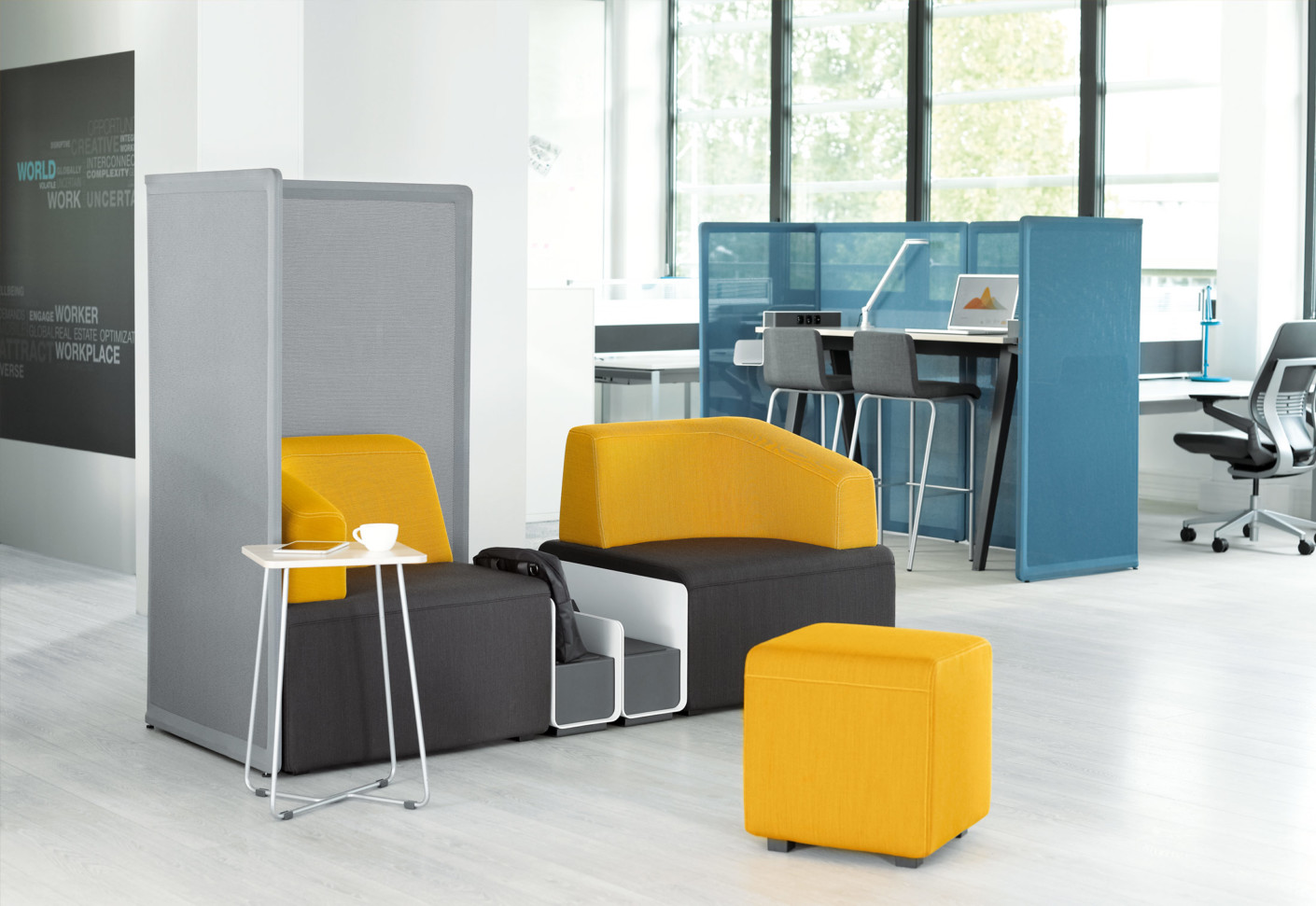 b free sitting area by steelcase stylepark. Black Bedroom Furniture Sets. Home Design Ideas