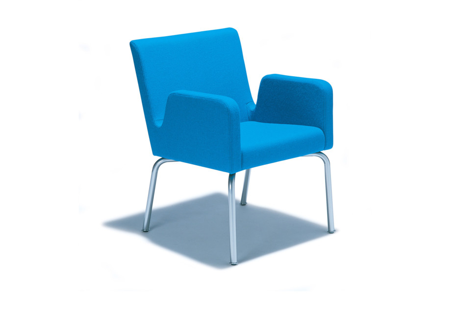 Dropp easy chair with armrest