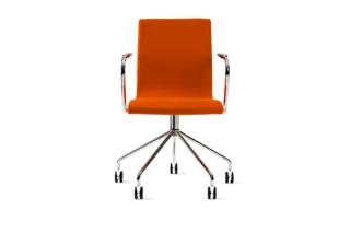 Flex swivel chair on wheels  by  Skandiform