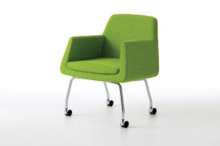 Jefferson easy chair on wheels  by  Skandiform