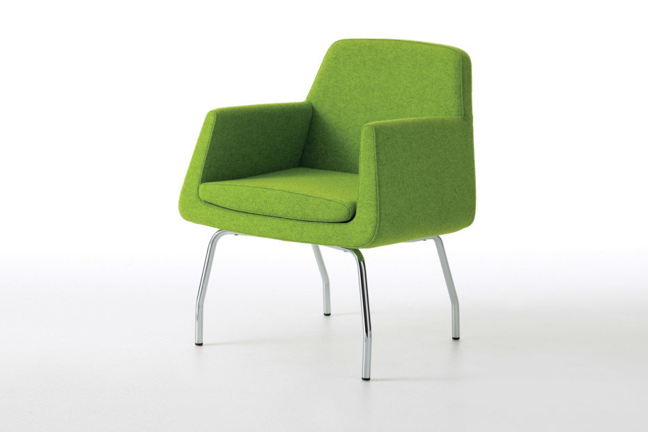 Jeffersson easy chair with feet