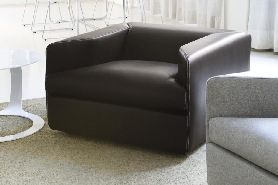 Open easy chair