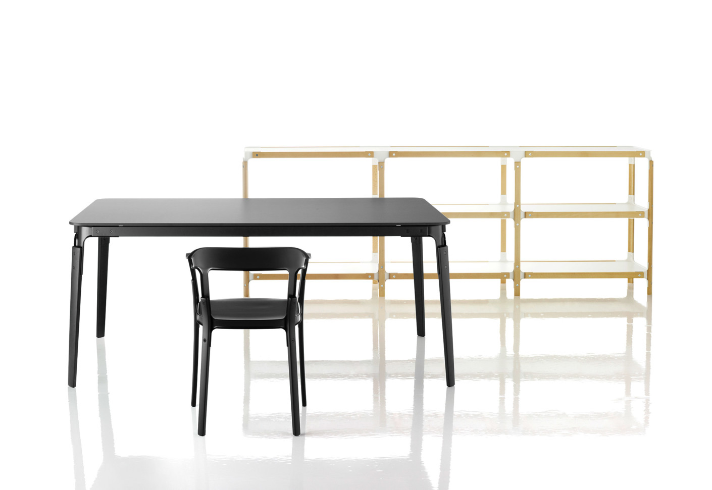 Steelwood shelf by magis stylepark for Magis steelwood