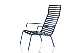 STRIPED armchair with armrests  by  Magis