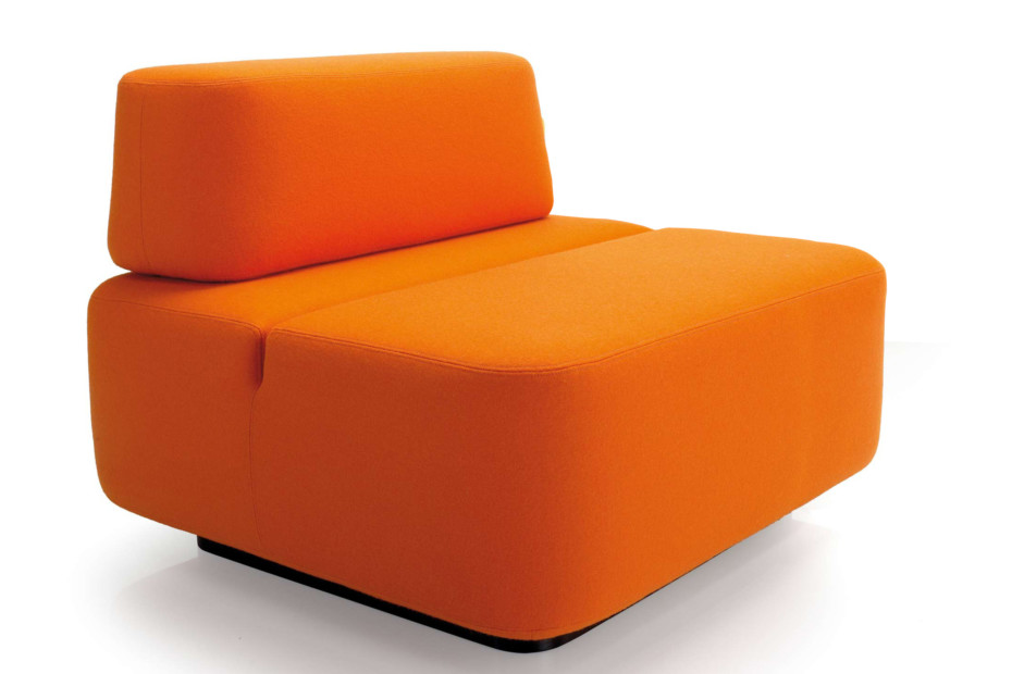 Movie sofa module with backrest