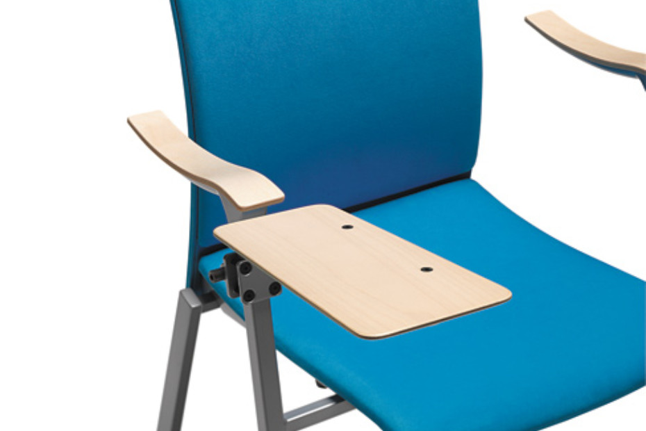 Flok chair with armrest upholstered