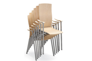 Flok chair with armrest  by  Materia