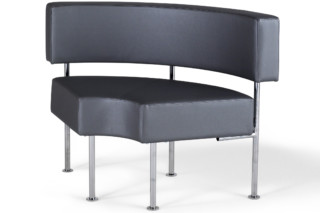 Longo bench with backrest round  by  Materia