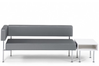 Longo bench with backrest square  by  Materia