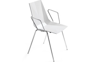 Mayflower plastic chair with armrest  by  Materia
