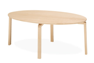 Robust side table oval  by  Materia