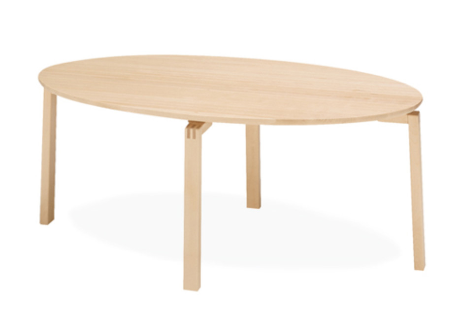 Robust side table oval