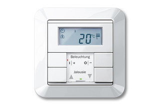 1-M Temperature control with multifunction push-buttons  by  Merten