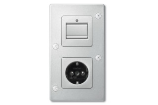 ANTI-VANDALISM Switch and socket combi  by  Merten