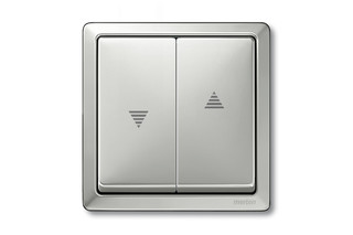 ARTEC STAINLESS STEEL Blind control with roller shutter switches  by  Merten