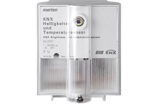 KNX brightness and temperature sensor  by  Merten