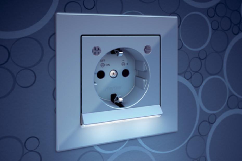 M-PLAN LED Steckdose von Merten | STYLEPARK