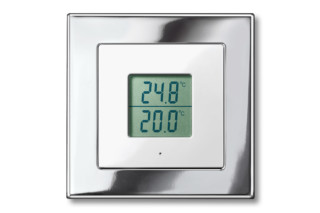 M-PLAN METAL FRAME Radio thermometer  by  Merten