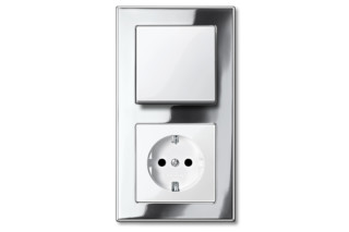 M-PLAN METAL FRAME Switch and socket combi  by  Merten