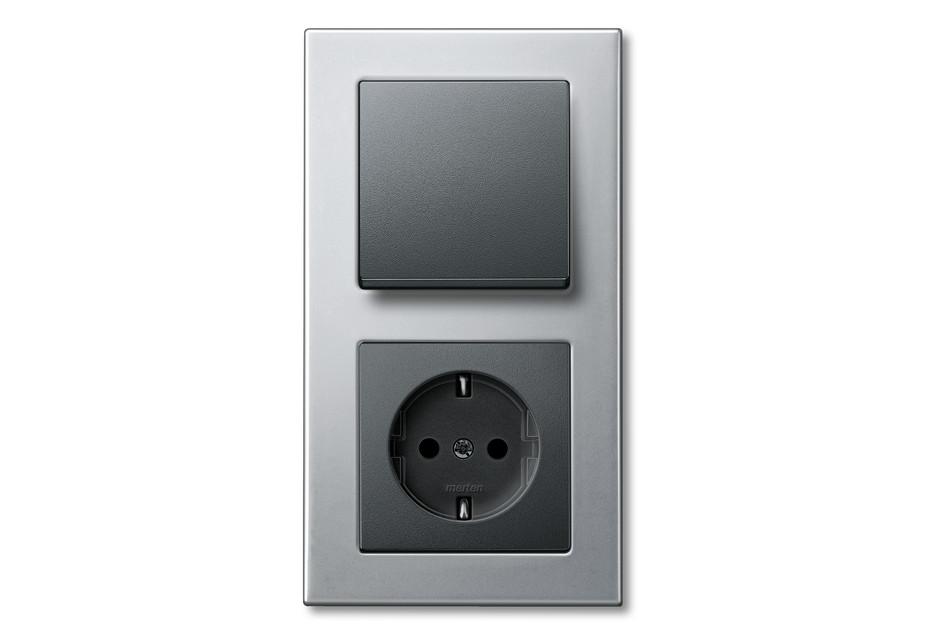 M-PLAN METAL FRAME Switch and socket combi