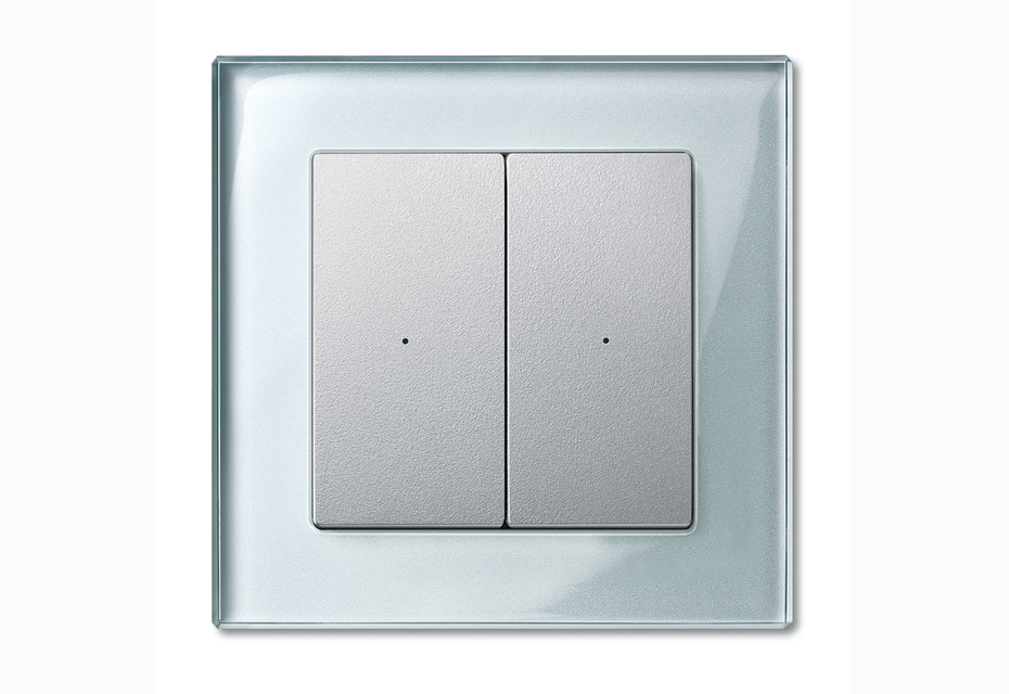 M-PLAN Radio push button with glass frame