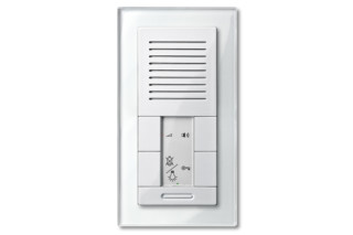M-PLAN TWINBUS FLUSH-MOUNTED INTERCOM with real glas frame  by  Merten