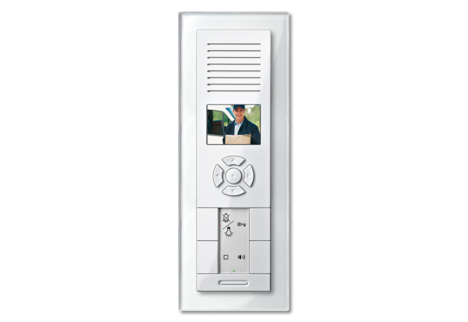 M-PLAN TWINBUS VIDEO FLUSH-MOUNTED INTERCOM with real glas frame