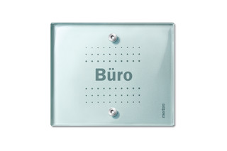 TRANCENT Light controls with lettering space  by  Merten
