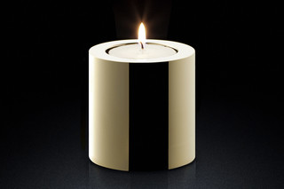 Candle Holder rd gold  by  MINIMALUX
