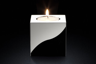 Candle Holder rd silver  by  MINIMALUX