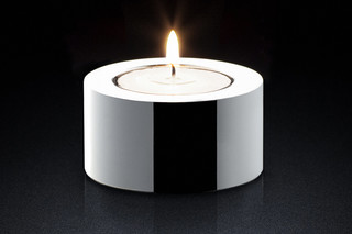 Candle Holder sq silver  by  MINIMALUX