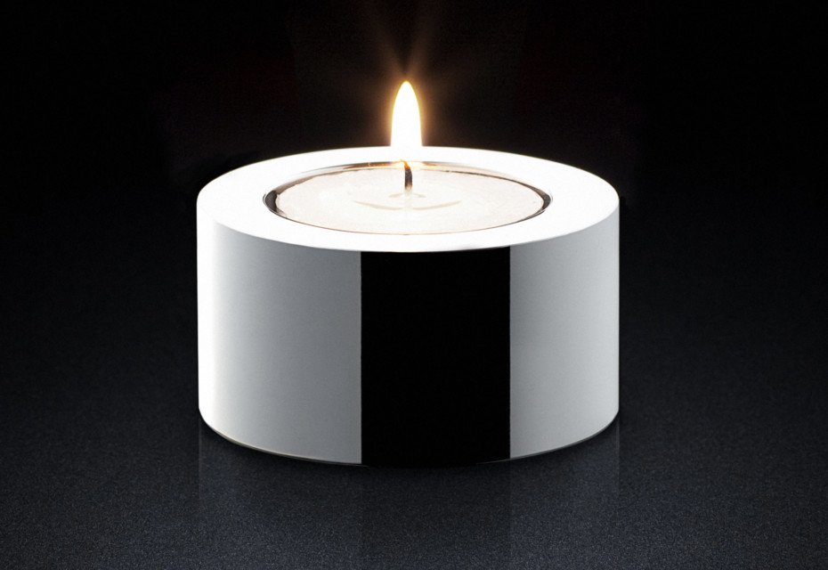 Candle Holder sq silver