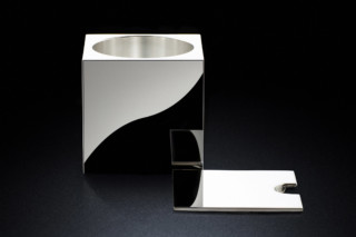 Serving Pot sq silver  by  MINIMALUX