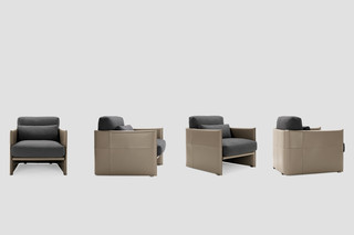 Luggage easy chair  by  Minotti