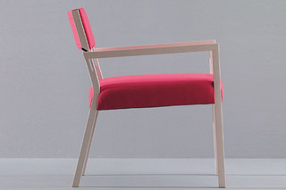 Sweetwood armchair with armrests  by  Montina