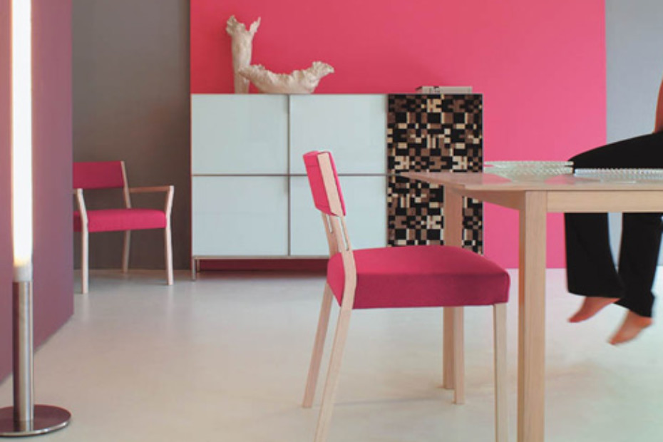 Sweetwood armchair with armrests