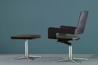 T - 1 armchair with x-base  by  Montina
