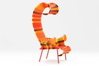 Shadowy chair with armrests  by  Moroso