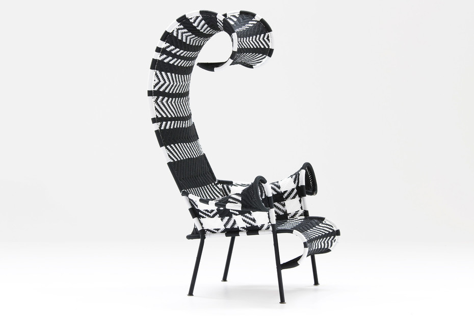 Shadowy chair with armrests