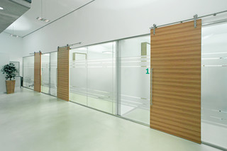 Glass Cabins and Partition Systems  by  MWE
